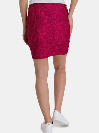 Růžová dámská vzorovaná sukně s kapsami SAM 73