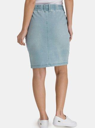 Světle modrá dámská pouzdrová džínová sukně SAM 73