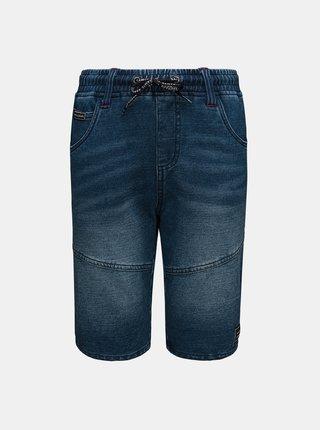 Tmavě modré klučičí džínové kraťasy se zavazováním SAM 73