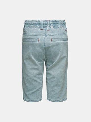 Světle modré klučičí džínové kraťasy se zavazováním SAM 73