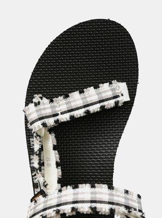 Čierno-biele dámske kockované sandále Teva