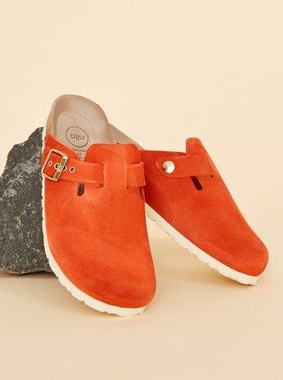 Červené dámské semišové pantofle OJJU