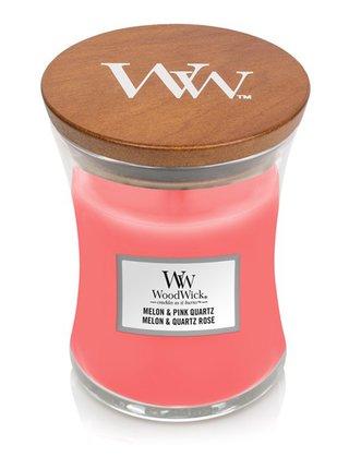 WoodWick vonná svíčka Melon & Pink Quartz střední váza