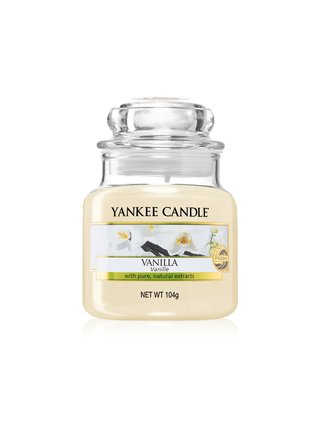 Yankee Candle biele vonná sviečka Vanilla Classic malá