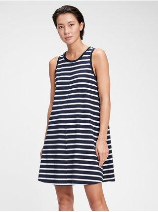 Barevné dámské šaty sleeveless swing dress
