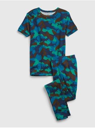 Barevné klučičí dětské pyžamo organic cotton shark camo print pj set
