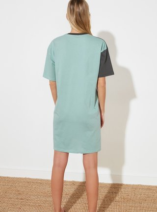 Šedo-fialové šaty Trendyol
