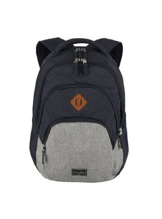 Batoh Travelite Basics Backpack Melange Navy/grey