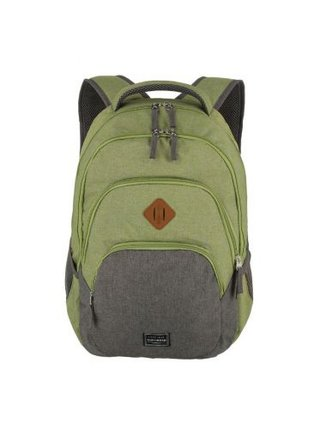 Batoh Travelite Basics Backpack Melange Green/grey