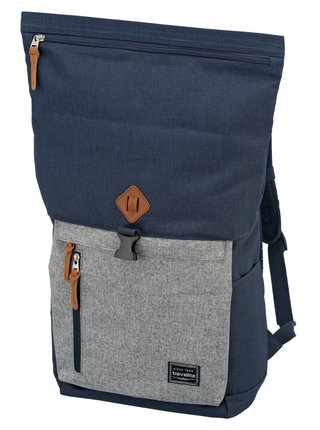 Batoh Travelite Basics Roll-up Backpack Navy/Grey