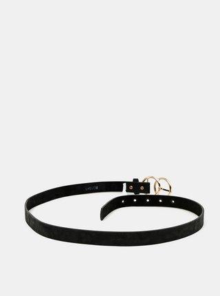 Černý dámský kožený pásek Haily´s Joanna