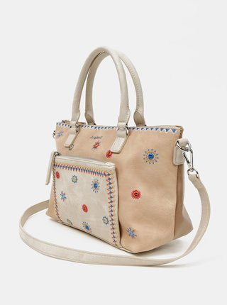 Desigual béžové kabelka Bols Cristal Moon Padua