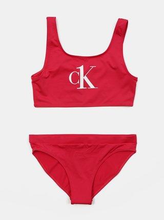 Calvin Klein růžové dívčí plavky Bralette Bikini Set