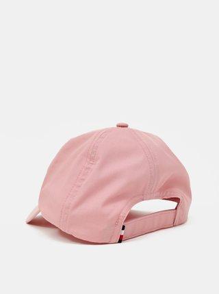 Tommy Hilfiger pudrová kšiltovka Signature Cap Soothing Pink