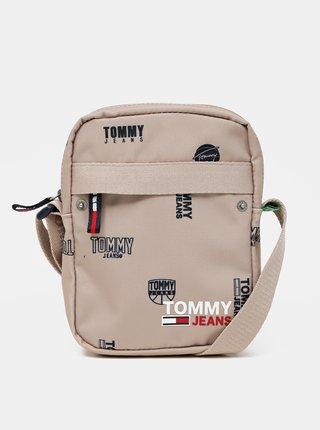 Tommy Hilfiger béžové pánska taška Campus Reporter Print