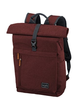 Batoh Travelite Basics Roll-up Backpack Bordeaux