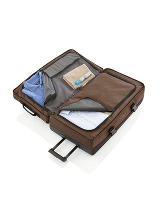 Cestovní taška Travelite Basics Doubledecker on wheels Black