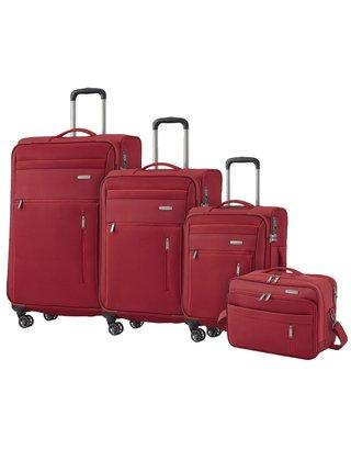 Sada cestovních kufrů Travelite Capri 4w S,M,L Red – sada 3 kufrů + BB