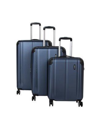 Sada cestovních kufrů Travelite City 4w S,M,L Navy – sada 3 kufrů