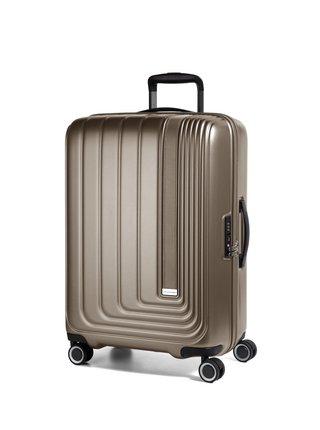 Cestovní kufr March Beau Monde L Silver Bronze metallic