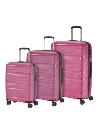 Sada cestovních kufrů Travelite Motion S,M,L Rose – sada 3 kufrů