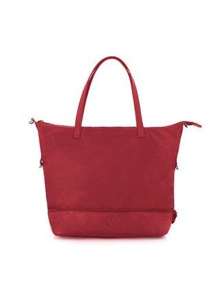 Kabelka Heys HiLite Zip Packaway Tote Red/Grey