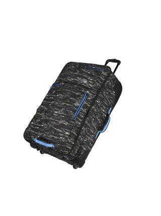 Cestovní taška Travelite Basics Doubledecker Black print