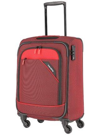 Sada cestovních kufrů Travelite Derby 4w S,M,L Red – sada 3 kufrů