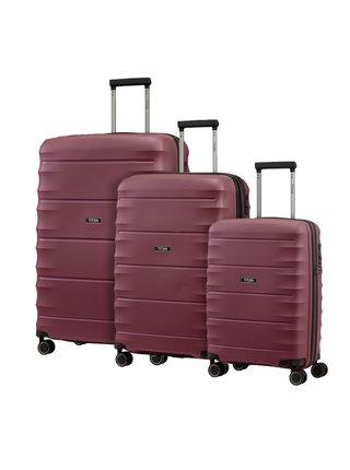 Sada cestovních kufrů Titan Highlight 4w S,M,L Merlot – sada 3 kufrů