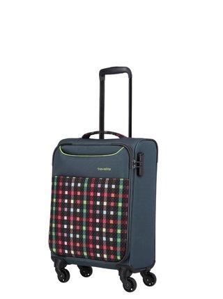 Cestovní kufr Travelite Argon S Checked Pattern