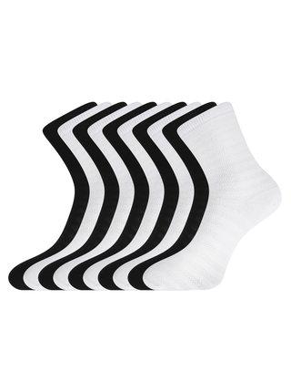 Ponožky bavlněné pruhované (sada 6 párů) OODJI