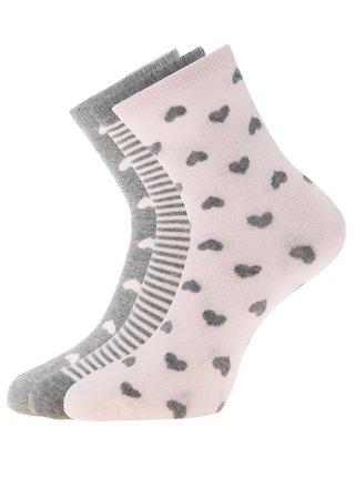 Ponožky vysoké (sada 3 párů) OODJI
