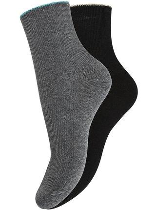 Ponožky vysoké (sada 2 párov) OODJI