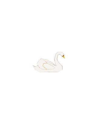Brož White Swan Brooch ze dřeva
