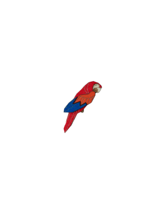 Brož Ara Parrot Brooch ze dřeva