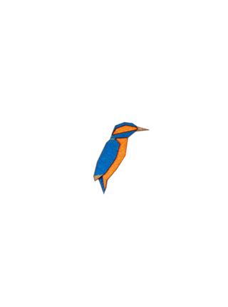 Brož Kingfisher Brooch ze dřeva