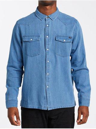 Billabong TERRITORY DENIM pánské košile s dlouhým rukávem - modrá