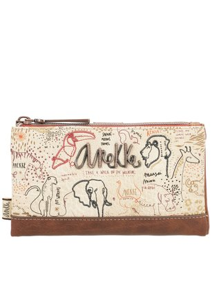 Anekke béžová peněženka Kenya