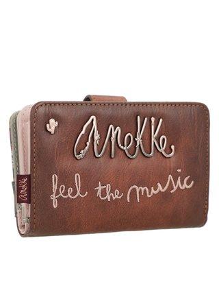 Anekke hnědá dámská peněženka Ixchel Music
