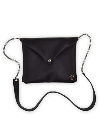 Xiss čierna listová kabelka Black Minimalist