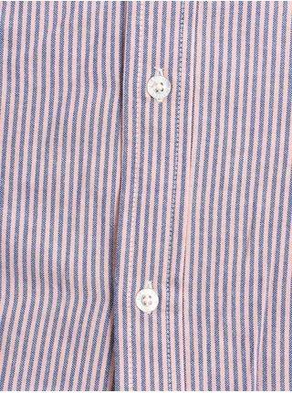 Element STANFORD BLUE PINK košile pro muže krátký rukáv - modrá