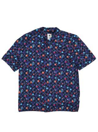 Element OUTFUN BLUE PRISM košile pro muže krátký rukáv - barevné