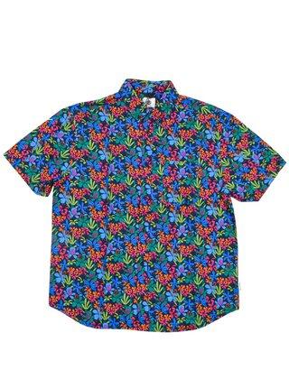 Element GLASTONBURY PINK GARDEN košile pro muže krátký rukáv - barevné