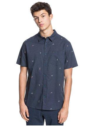 Quiksilver YACHT ROCK INDIA INK YACHT ROCK košile pro muže krátký rukáv - modrá