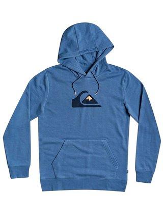 Quiksilver COMP LOGO Captains Blue mikiny přes hlavu pánská - modrá