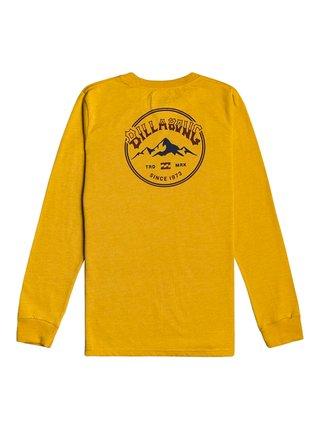 Billabong ARCH PEAK MUSTARD dětské triko s dlouhým rukávem - žlutá
