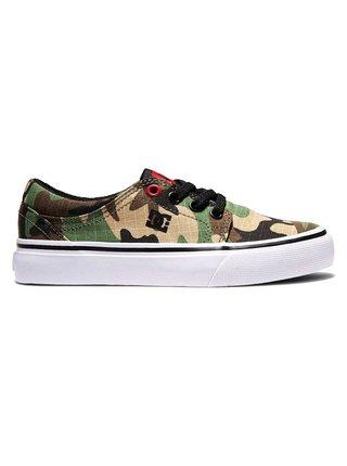 Dc TRASE BLACK/CAMO PRINT letní boty dětské - černá