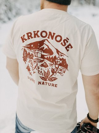 Krémové pánske tričko ZOOT Original Krkonoše