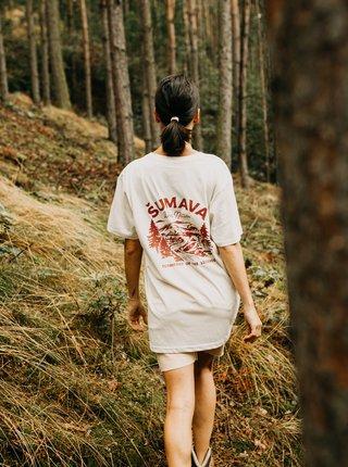 Krémové dámske oversize tričko ZOOT Original Šumava