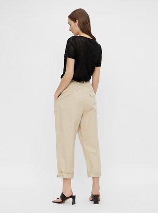 Krémové skrátené nohavice .OBJECT Nancy